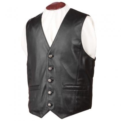 custom leather vests